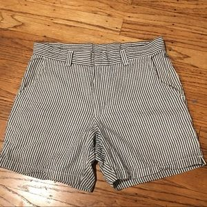 American Apparel Seersucker striped shorts sz 28